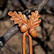 Украшения ручной работы. Ярмарка Мастеров - ручная работа Заколка листья дуба. Handmade.
