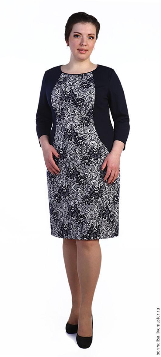 """Платья ручной работы. Ярмарка Мастеров - ручная работа. Купить Платье """"Doris"""". Handmade. Комбинированный, повседневное платье, биг сайз"""