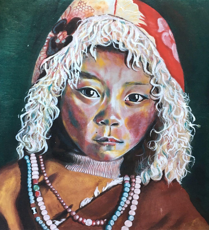 Тибетский мальчик в шапке, Картины, Москва,  Фото №1