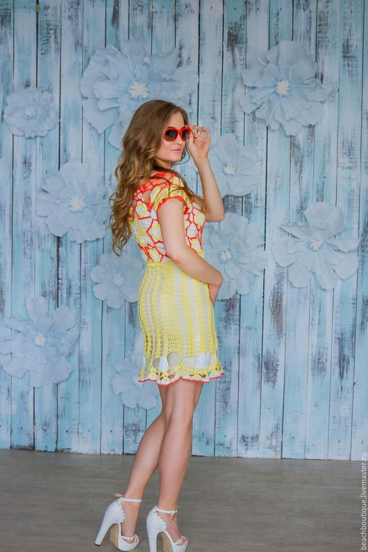 """Платья ручной работы. Ярмарка Мастеров - ручная работа. Купить Платье """"Монако"""". Handmade. Оранжевый, цветное"""
