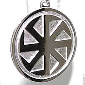 Русский стиль handmade. Livemaster - original item Kolovrat amulet and Svarog Seal. Handmade.