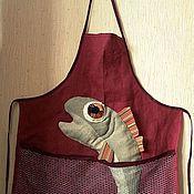 """Для дома и интерьера ручной работы. Ярмарка Мастеров - ручная работа Фартук """"Большая рыба"""". Handmade."""
