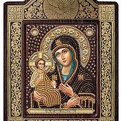 Иконы ручной работы. Ярмарка Мастеров - ручная работа Икона вышитая бисером Богородица Троеручица. Handmade.