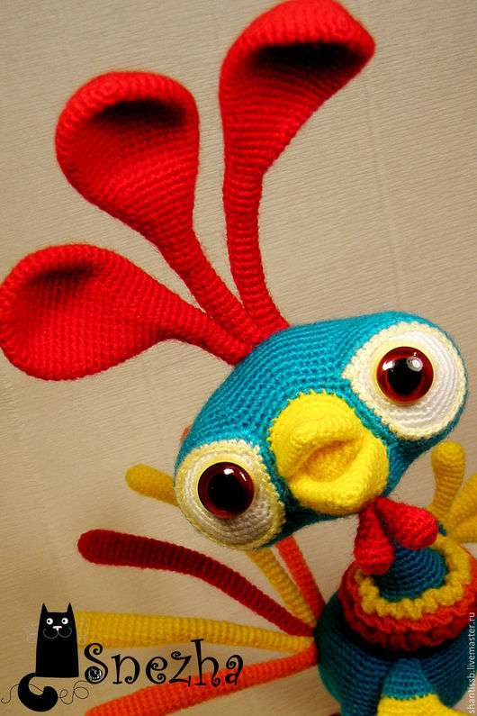 Новый год 2017 ручной работы. Ярмарка Мастеров - ручная работа. Купить Кокош. Handmade. Бирюзовый, игрушка ручной работы