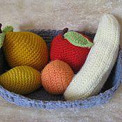 """Винтаж ручной работы. Ярмарка Мастеров - ручная работа Корзина с фруктами """"Урожай"""", винтаж, ручная работа-распродажа. Handmade."""
