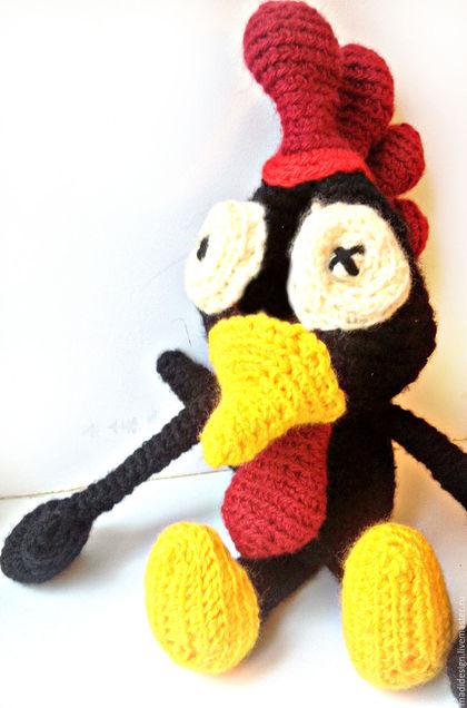Игрушки животные, ручной работы. Огненный Петушок. Вязаная игрушка. Петух - символ 2017 года. Мадина (детская одежда и игрушки). Интернет-магазин Ярмарка Мастеров.