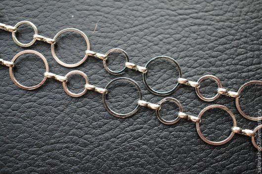 Для украшений ручной работы. Ярмарка Мастеров - ручная работа. Купить Цепочка металл под серебро кольца малые. Handmade.
