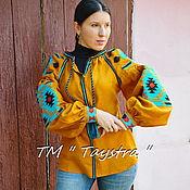 Одежда ручной работы. Ярмарка Мастеров - ручная работа Блуза вышитая, блуза лен, этно стиль, блузка с вышивкой. Handmade.