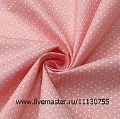 Ткани ручной работы. Ярмарка Мастеров - ручная работа Ткань хлопок розовый , поплин стрейч горох Н Ф 003.1. Handmade.
