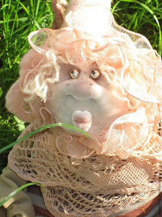 Коллекционные куклы ручной работы. Ярмарка Мастеров - ручная работа. Купить Тёпленький. Handmade. Бледно-розовый, шерсть