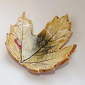 """Посуда ручной работы. Ярмарка Мастеров - ручная работа Подставка для украшений """"Осенний лист"""". Handmade."""