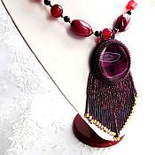 """Украшения ручной работы. Ярмарка Мастеров - ручная работа Кулон подвеска """" Бордовый """" украшение на шею. Handmade."""