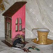 """Для дома и интерьера ручной работы. Ярмарка Мастеров - ручная работа Чайный домик """"Розовые мечты"""". Handmade."""