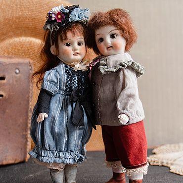 Куклы и игрушки ручной работы. Ярмарка Мастеров - ручная работа Куклы:Детки-миньонеттки из антикварных деталей Герман и Жужу. Handmade.