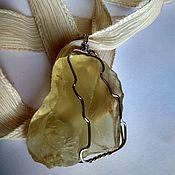 Украшения handmade. Livemaster - original item Pendant made of Natural lemon Topaz, wire Wrap, silver plated. Handmade.