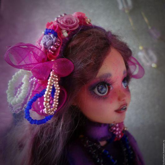 Коллекционные куклы ручной работы. Ярмарка Мастеров - ручная работа. Купить Ежевика. Фиолетовое настроение. ООАК.. Handmade. Фиолетовый, ооак