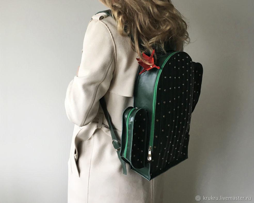 Цветущий Кактус: рюкзак из кожи или эко кожи, Рюкзаки, Москва,  Фото №1