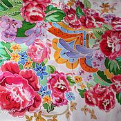 Аксессуары ручной работы. Ярмарка Мастеров - ручная работа Прекрасные розы, шёлковый платок. Handmade.