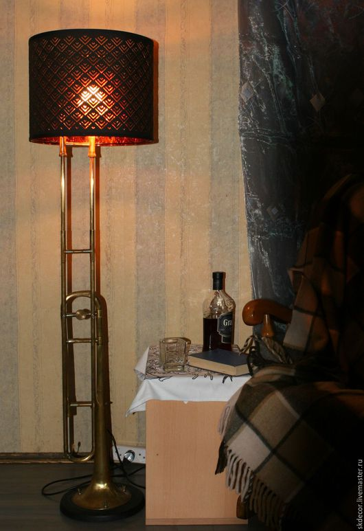 Освещение ручной работы. Ярмарка Мастеров - ручная работа. Купить Торшер из тромбона. Handmade. Лампа, светильник