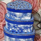 """Подарки к праздникам ручной работы. Ярмарка Мастеров - ручная работа %Набор коробочек-шкатулочек  """"Снежные грезы"""". Handmade."""