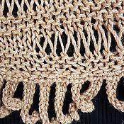Одежда ручной работы. Ярмарка Мастеров - ручная работа Кофта пуловер джемпер с бахромой Какао. Handmade.