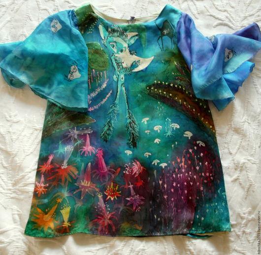 """Одежда для девочек, ручной работы. Ярмарка Мастеров - ручная работа. Купить платье для девочки """"Хранитель луны"""". Handmade. Тёмно-синий"""