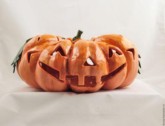 Уличный подсвечник Halloween 37 см. Ажурная керамика Елены Зайченко