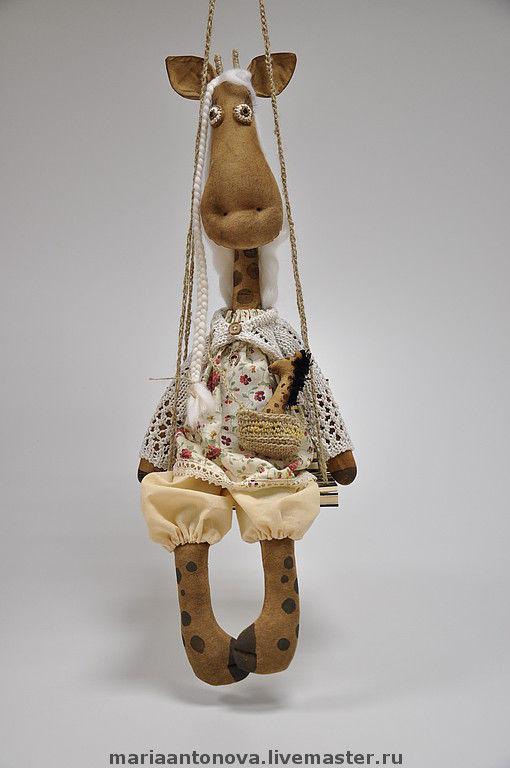 Ароматизированные куклы ручной работы. Ярмарка Мастеров - ручная работа. Купить Жирафа Жозефина шоколадная. Handmade. Подарок, примитивная кукла