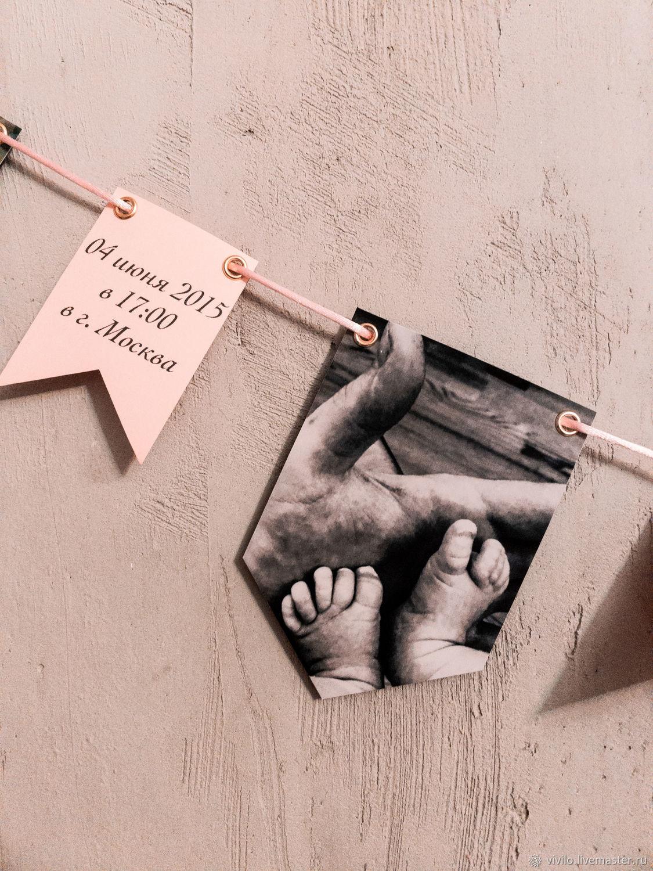 Гирлянда из флажков, Реквизит для детской фотосессии, Москва,  Фото №1