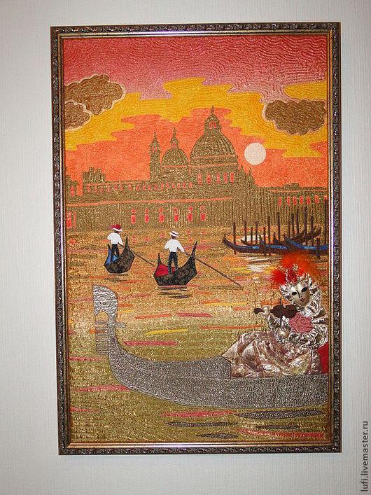 Город ручной работы. Ярмарка Мастеров - ручная работа. Купить Венеция. Handmade. Карнавал, отражение, закат, шёлк, бисер