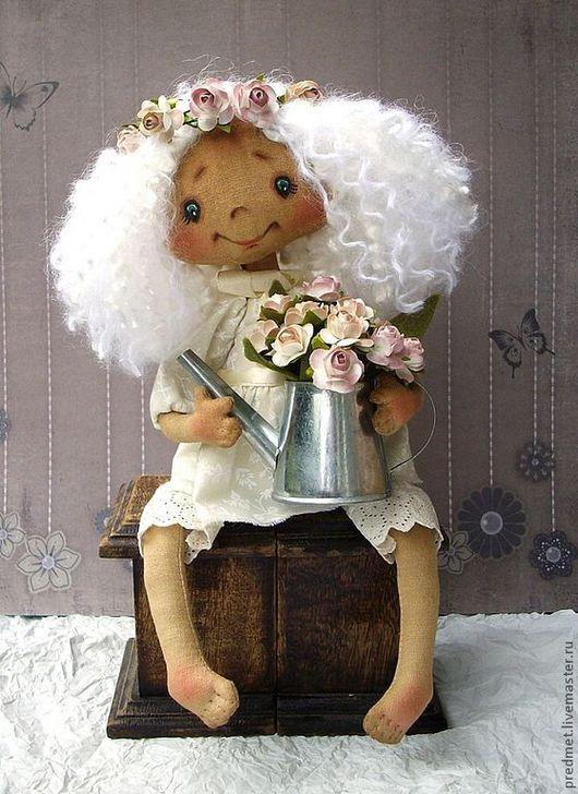 Коллекционные куклы ручной работы. Ярмарка Мастеров - ручная работа. Купить Неженка. Handmade. Белый, интерьерная кукла, ваниль
