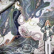 """Материалы для творчества handmade. Livemaster - original item Шелк-атлас ETRO """"Стелла"""" итальянские ткани. Handmade."""