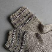 Аксессуары handmade. Livemaster - original item Rustic socks womens white. Handmade.