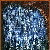 """Картины и панно ручной работы. Ярмарка Мастеров - ручная работа Панно """"Водопад"""". Батик на хлопке. (80х98см). Handmade."""