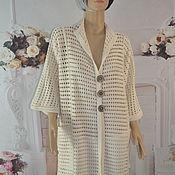 Одежда handmade. Livemaster - original item Summer cardigan, ,60-64p., cotton.. Handmade.