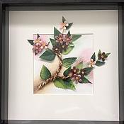 """Картины и панно ручной работы. Ярмарка Мастеров - ручная работа Картина в технике квиллинг """"Весна"""". Handmade."""