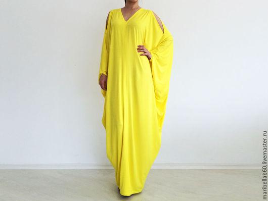 Платья ручной работы. Ярмарка Мастеров - ручная работа. Купить RIVIERA Длинное платье в пол кафтан. Handmade. Желтый