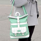 Сумки и аксессуары handmade. Livemaster - original item Backpack leather ladies