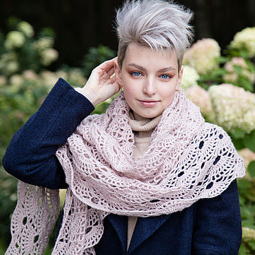 Accessories handmade. Livemaster - original item openwork shawl. Handmade.
