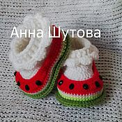 """Работы для детей, ручной работы. Ярмарка Мастеров - ручная работа Пинетки """"арбузики"""". Handmade."""