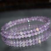 Украшения handmade. Livemaster - original item Lavender Amethyst Natural Bracelet with Cut. Handmade.