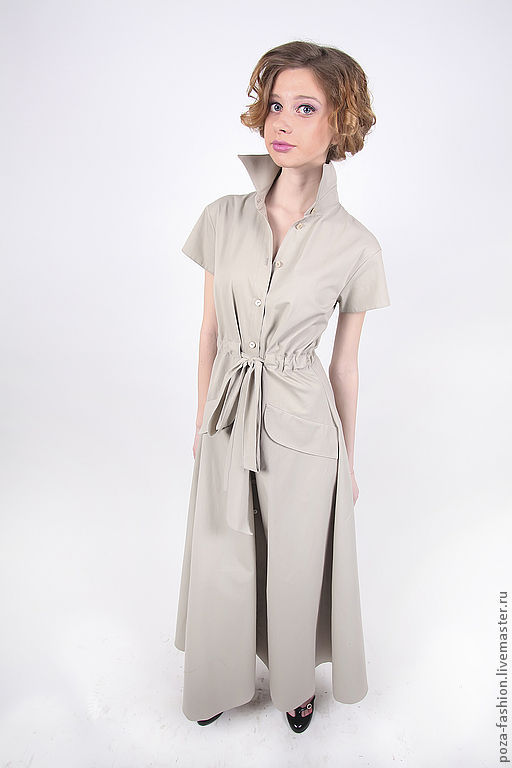"""Платья ручной работы. Ярмарка Мастеров - ручная работа. Купить Платье """"Сафари"""". Handmade. Серый, серое платье, весна"""