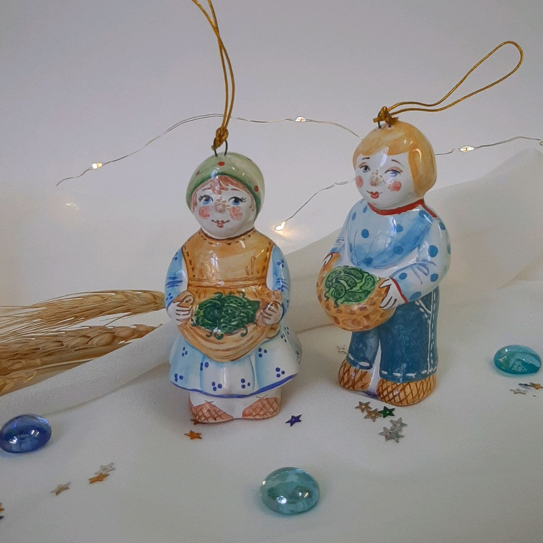 Елочные игрушки выполнены в технике майолика, Елочные игрушки, Ярославль,  Фото №1