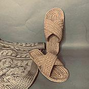 Обувь ручной работы handmade. Livemaster - original item Men`s flip-flops. Slippers for men. Jute Shoes. Handmade.