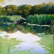 Картины и панно handmade. Livemaster - original item Oil painting Ozerovedeniya Chernov. Handmade.