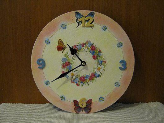 """Часы для дома ручной работы. Ярмарка Мастеров - ручная работа. Купить часы """"Наконец-то лето"""". Handmade."""