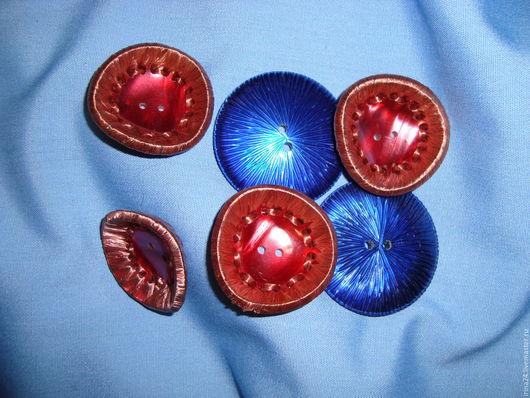 Винтажная одежда и аксессуары. Ярмарка Мастеров - ручная работа. Купить Набор винтажных пуговиц (1). Handmade. Ярко-красный