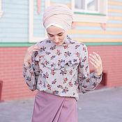 Блузки ручной работы. Ярмарка Мастеров - ручная работа Блуза с рюшами. Handmade.