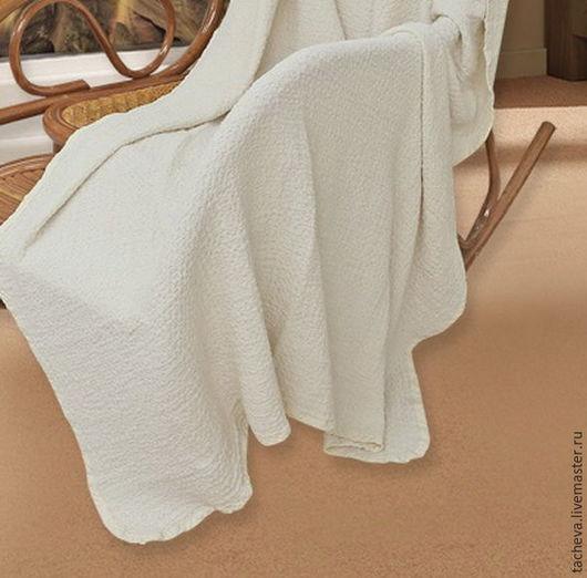 Текстиль, ковры ручной работы. Ярмарка Мастеров - ручная работа. Купить Плед- белые ночи. Handmade. Белый, покрывало на кровать