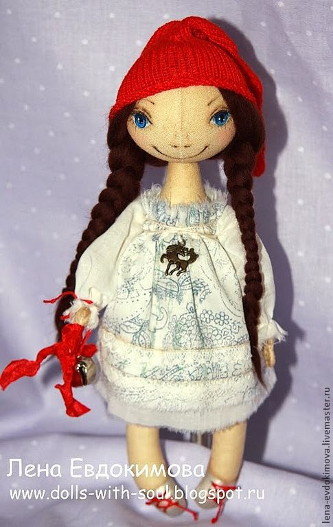 Коллекционные куклы ручной работы. Ярмарка Мастеров - ручная работа. Купить Гномочка с бубенцом. Handmade. Ярко-красный, текстильная кукла